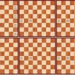 schaakbordbruin